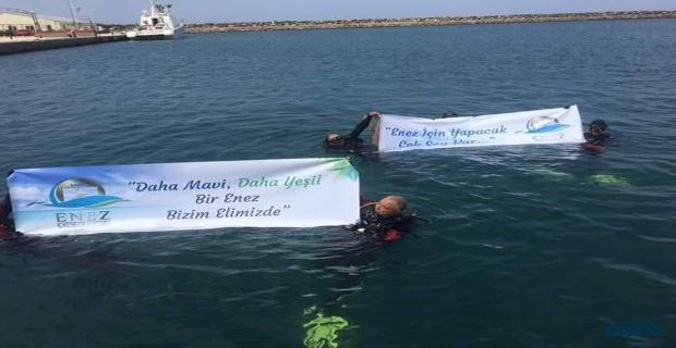 Enez'e denizden ve karadan temizlik !