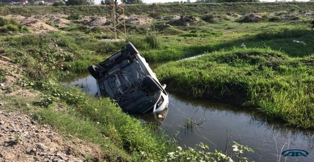 Su kanalına devrildi!