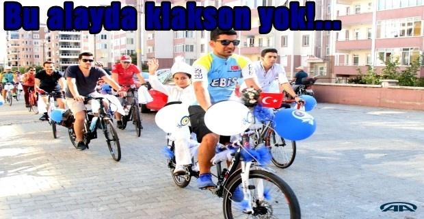 Bisikletçinin alayı böyle olur!