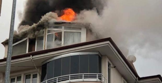 Çatı katın da yangın!