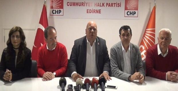 """Gürkan """"Edirne'de Cumhuriyet Halk Partisi'nin bayrağı yine gönderden inmemiştir!"""""""