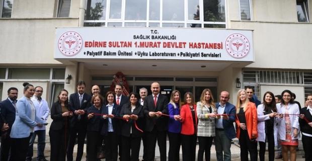 Palyatif Ek Bakım Servisi açıldı.