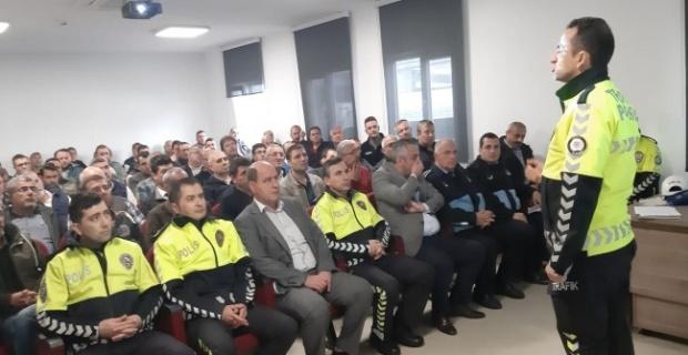 Edirne'de okul sürücülerine eğitim verildi!