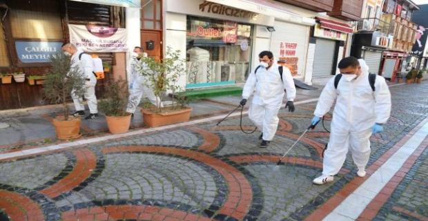 Açık alanlar dezenfekte edildi!