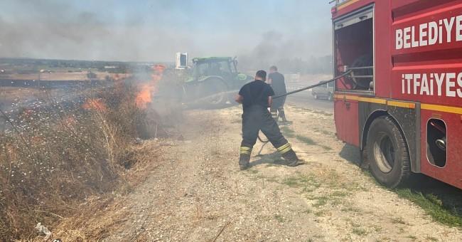 Anız yangını ulaşımı etkiledi!