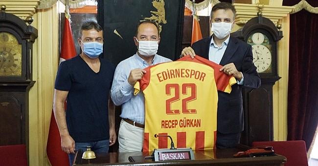 """Gürkan """"Edirnespor'un profesyonel lige yükselmesi Edirneyi mutlu etti!"""