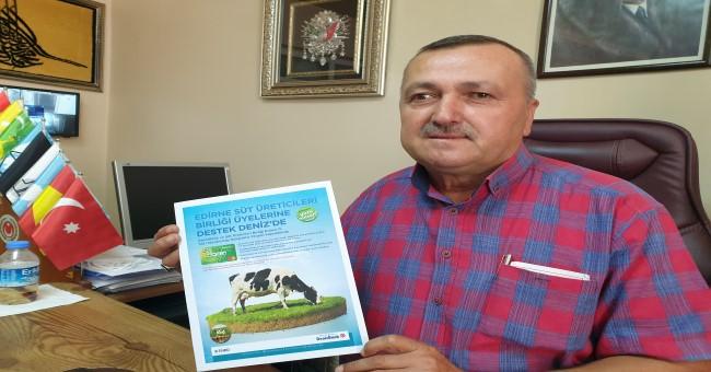 Süt üreticisine ekipman ve canlı hayvan desteği!