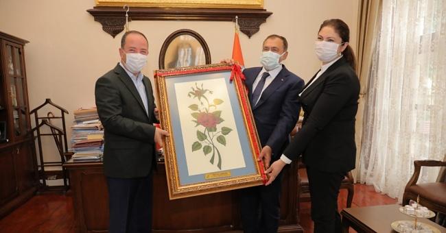 Eroğlu başkan Gürkan'ı ziyaret etti!