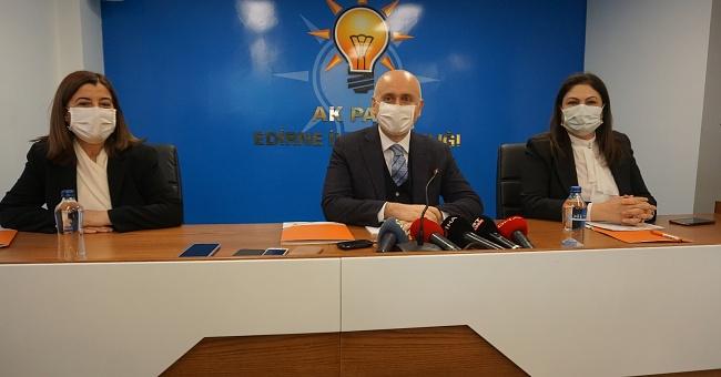 Ulaştırma ve Altyapı Bakanı Adil Karaismailoğlu Edirne'de temaslarda bulundu!