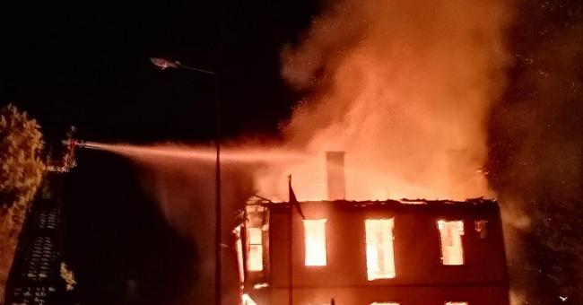 Müftülük binası tamamen yandı!