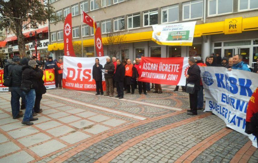 Asgari ücret zam oranı protesto edildi!