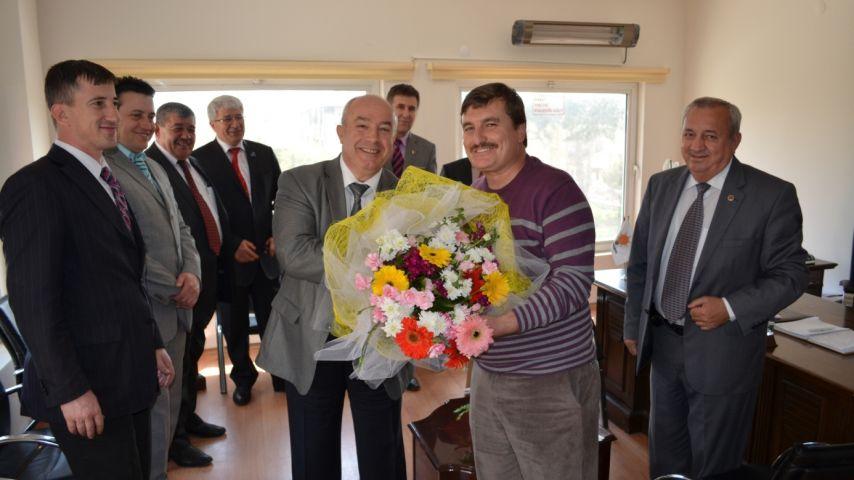 EDESOB heyeti AK Parti İl Başkanı Kahve'yi ziyaret etti