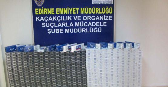 Edirne'de 6 bin 520 paket kaçak sigara ele geçirildi