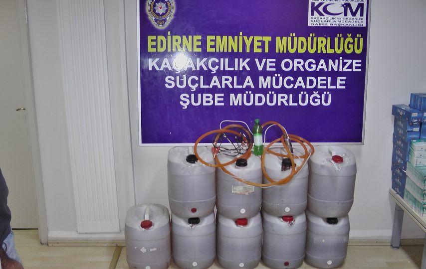 Edirne'de kaçak içki ile yakalandılar!