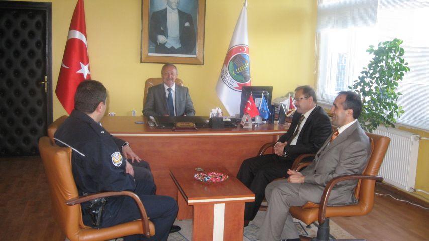 Emniyet Müdürü Ceylan, Belediye Başkanı Atik'i ziyaret etti