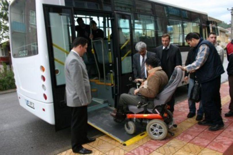 Engelliler için toplu taşıma aracı!