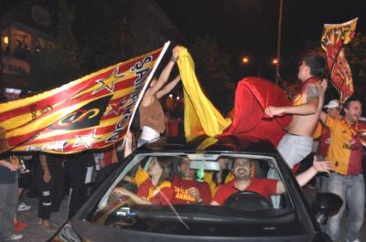 Galatasaray'ın sampiyonluğu doyasıya kutlandı!