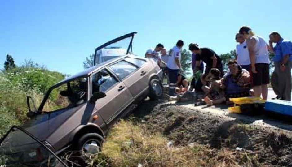 Keşan da trafik kazası 7 yaralı!
