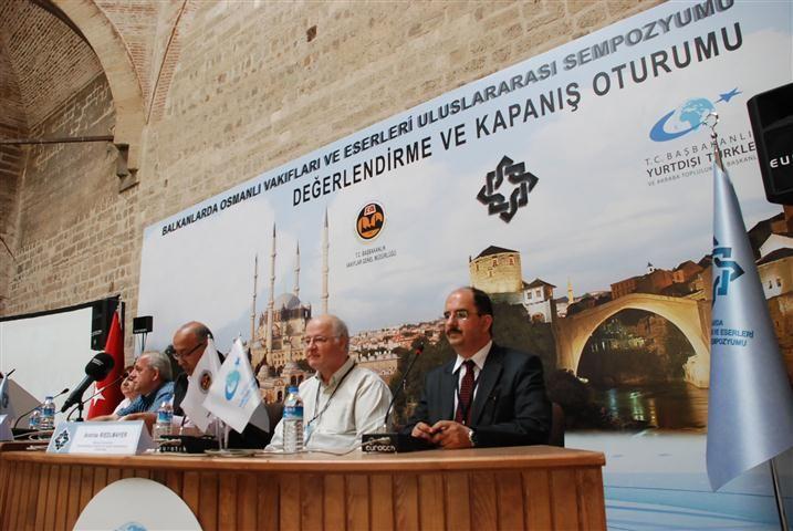 Sempozyumun kapanış oturumu Edirne'de yapıldı