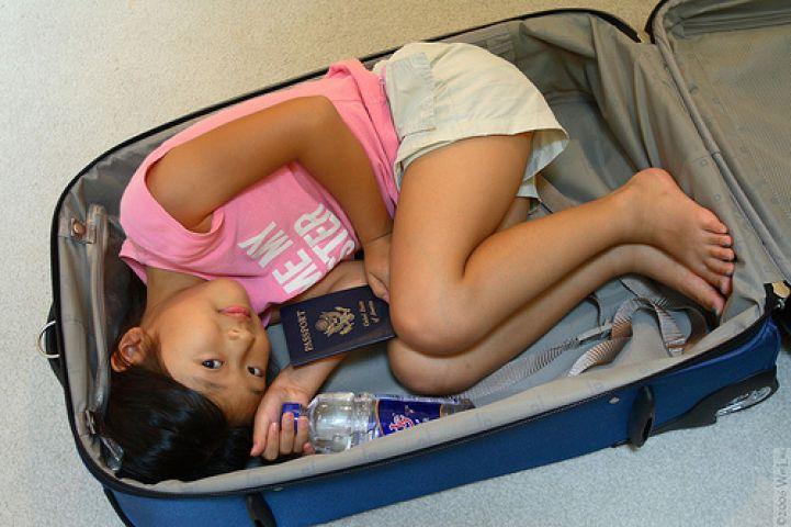 Sınırı bavulda gecmek istedi!