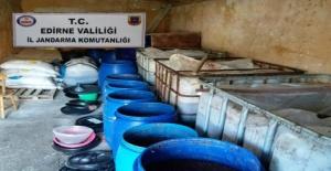 Edirne'de sahte içki operasyonu!