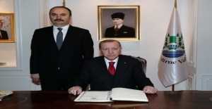 Cumhurbaşkanı Erdoğan Vali Canalp'i ziyaret etti!