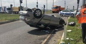 Havsa ışıklı kavşakta meydana gelen kazada 5 kişi yaralandı!