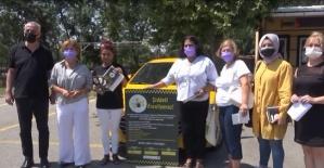 Şiddeti frenlemek için taksiciler devrede!