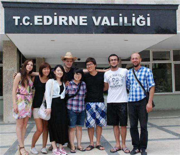 Yabancı müzisyen grubu Edirne'de
