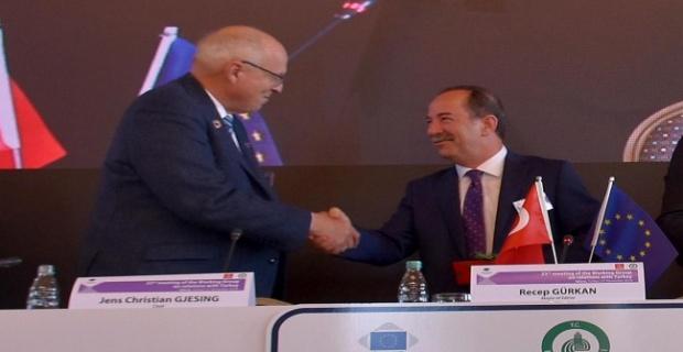 Gjesing'ten başkan Gürkan'a teşekkür!