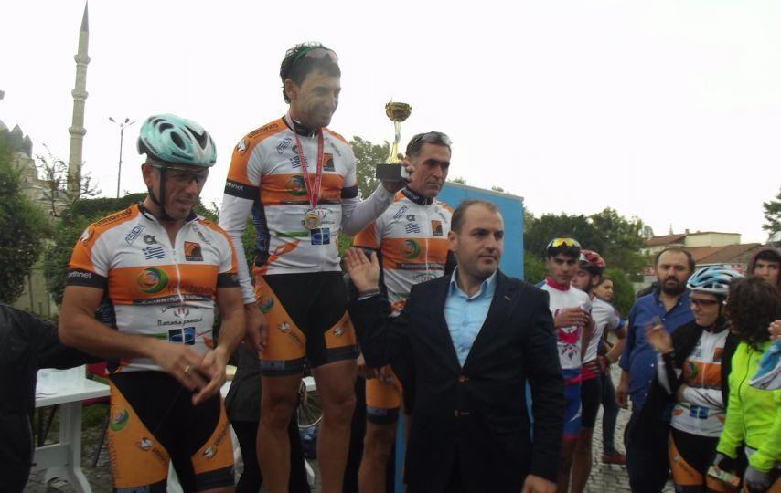 Edirne'de ''4. Bisiklet Yol Yarışı'' düzenlendi